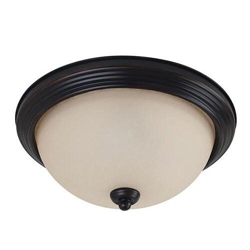 Sea Gull Lighting 7716491S-710 LED Ceiling Flush Mount Burnt Sienna Finish
