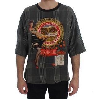 Dolce & Gabbana Dolce & Gabbana Crewneck SANGUINELLA ITALIA Print Silk T-shirt