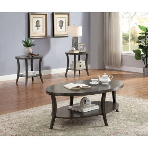Furniture of America Daja Contemporary Grey 3-piece Accent Table Set