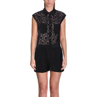Marc by Marc Jacobs Womens Leila Romper Silk Blend Lace