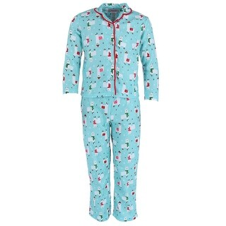 Rene Rofe Girl's Llama Pajama Set with Pom Poms