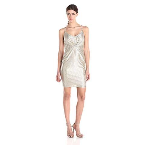 Laundry by Shelli Segal Rapine Metallic Knit Dress, Silver, 14