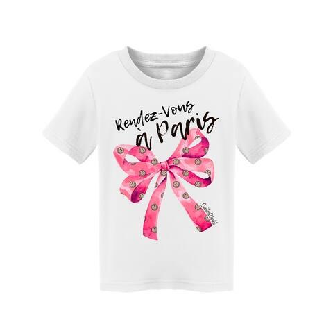 SmileyWorld Rendez-vous A Paris Pink Bow Toddler's T-shirt