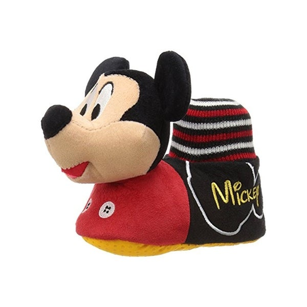 Disney Boys Mickey Mouse Slippers Colorblock Mickey