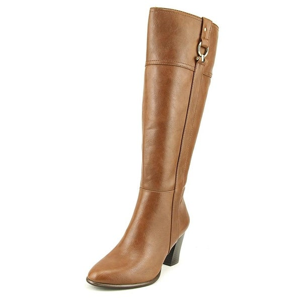 Alfani Courtnee Wide Calf Women Round Toe Synthetic Brown Knee High Boot