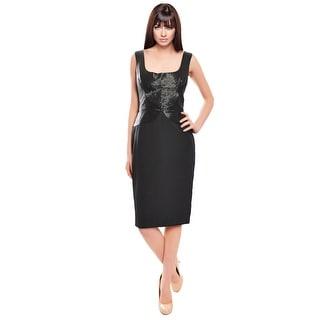 Marchesa Exquisite Beaded Silk Cocktail Evening Dress
