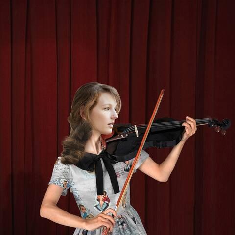 Glarry GV103 4/4 Spruce Panel Violin Matte White
