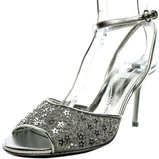 Moschino Pollyr Women  Open Toe Canvas Silver Sandals
