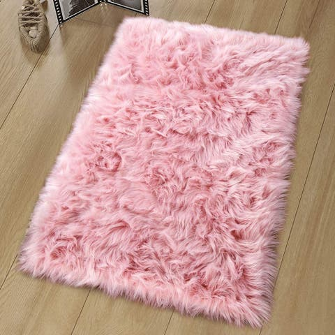 Luxury Rugs Bedroom Bedside Carpet Sheepskin Area Rugs Children Play Room Decor Rug, 2x3ft/3x5ft