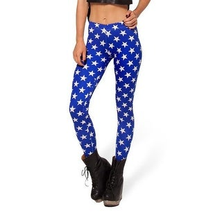 Fashion Lady Pattern Printed White Stars Stretch Tight Leggings Skinny Pants