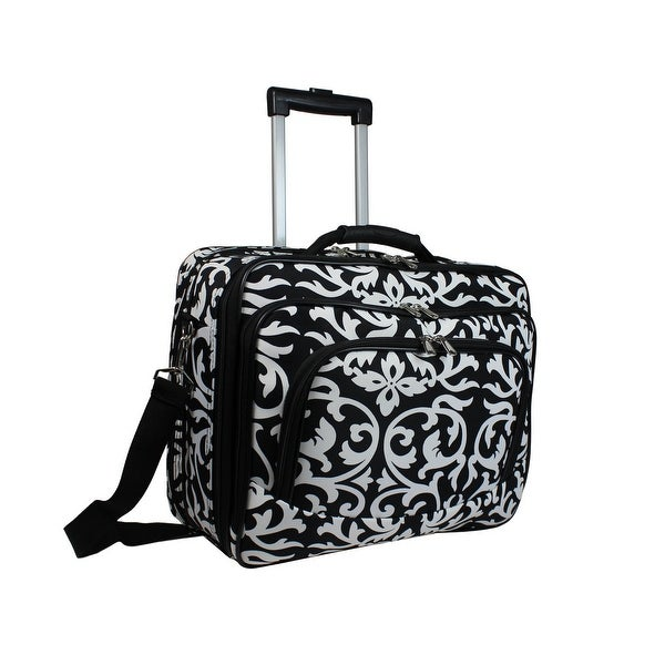 World Traveler Women's Damask Print Rolling Laptop Tote. Opens flyout.