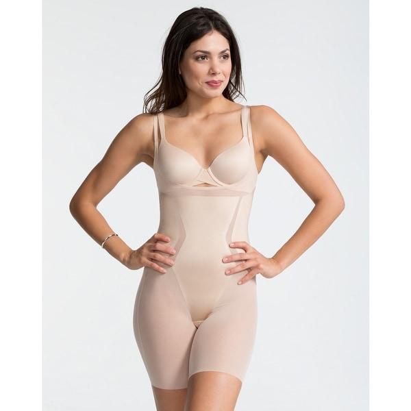 dfc32a26365c4 Shop Spanx FS6815 Haute Contour Open-Bust Mid-Thigh Bodysuit Nude ...