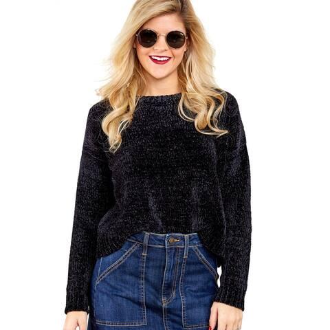 Black Chenille Pullover