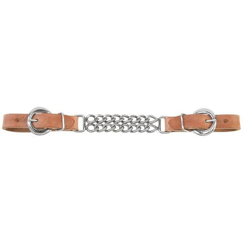 Weaver 30-1350 Harness Leather Double Flat Link Chain Curb Strap, 5/8""
