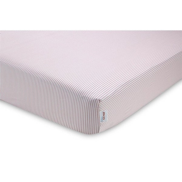 Baby Gund Striped Deluxe Crib Sheet - light pink - 0