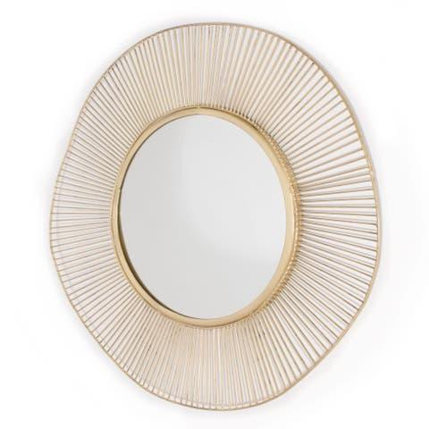 Brielle Gold Metal Mirror - 28 x 28