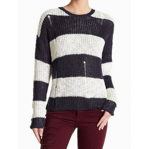 Cotton Emporium Women Large Distressed Knitted Sweater