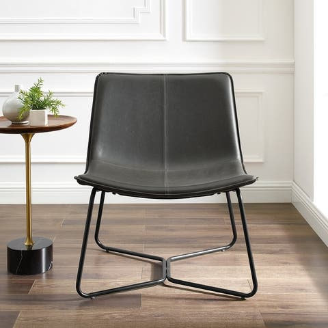 Carbon Loft Low Profile Faux Leather Accent Chair