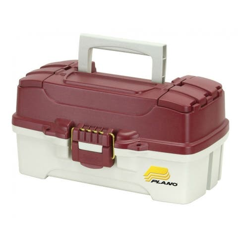 PlanoA 620106 One Tray Tackle Box, Red Metallic/Off White