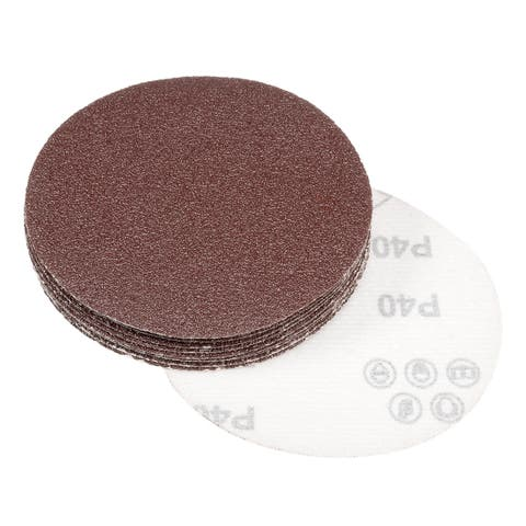 10Pcs 4.8 Inch Sanding Disc 40 Grits Flocking Sandpaper Sander