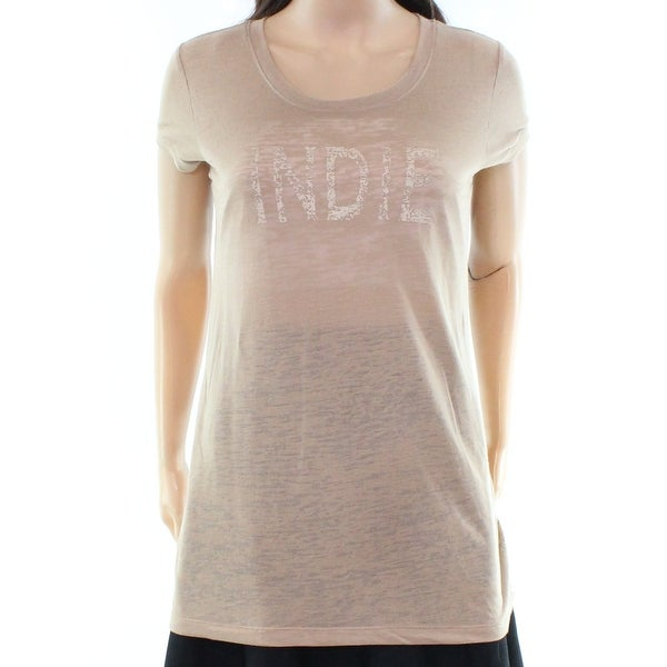 8b90032a68e4 Shop BCBG Max Azria NEW Brown Indie Women s Size Small S Burnout Tee Top -  Free Shipping On Orders Over  45 - Overstock - 19490253