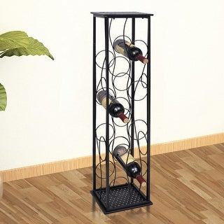 vidaXL Metal Wine Rack Stand for 8 Bottles