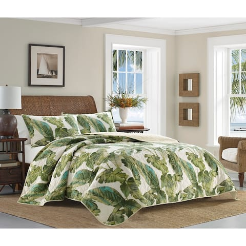 Tommy Bahama Fiesta Palms Cotton Quilt Set