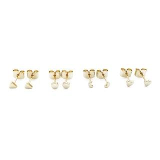 HONEYCAT Mini Stud Earrings Quartet (Delicate Jewelry)