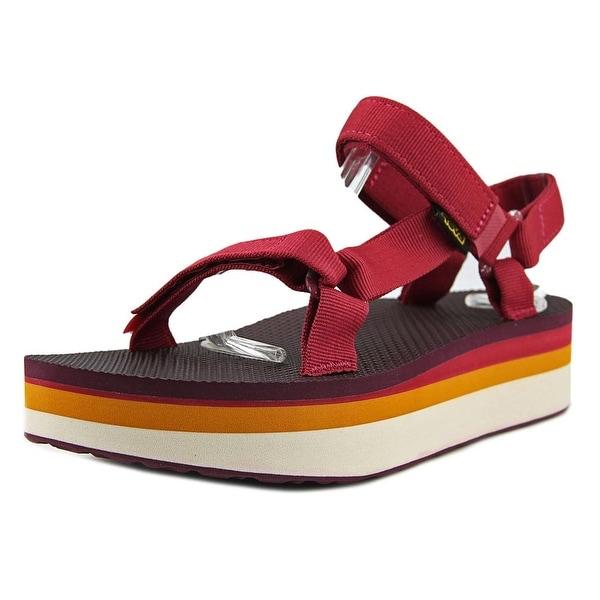Teva Flatform Universal Retro Women Open-Toe Canvas Sport Sandal