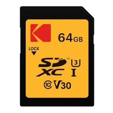 Kodak SDXC 64GB UHS-I U3 V30 Ultra Memory Card - Yellow