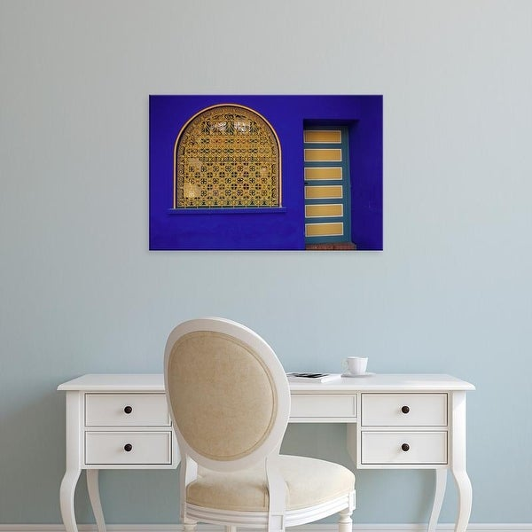 Easy Art Prints Darrell Gulin's 'Marrakech Doorway In Jardin Majorelle' Premium Canvas Art