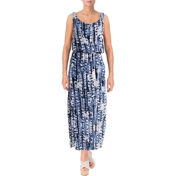 Beach Lunch Lounge Womens Sue Printed Blouson Maxi Dress