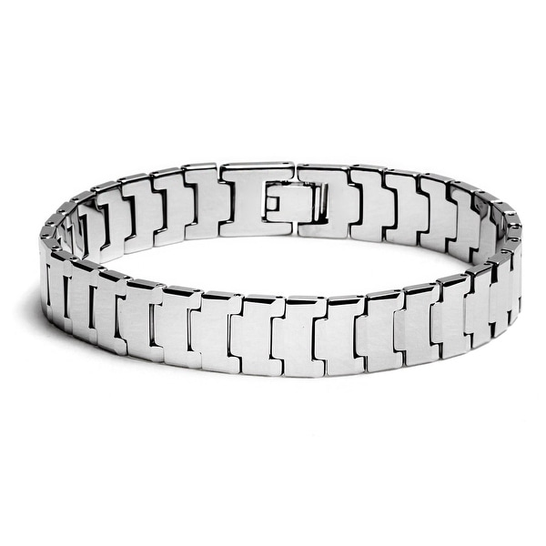 Chisel Men's Polished Tungsten Carbide Bracelet - 8.5 Inches