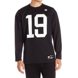 Champion NEW Black White Mens Size 2XL Jersey 19 Crewneck Sweater