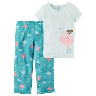 Carter's Baby Girls' 2 Piece Cotton & Jersey PJs, 12 Months - Blue