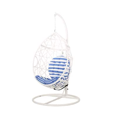 Cayuse Outdoor Wicker Hanging Tear Drop Chair by Christopher Knight Home