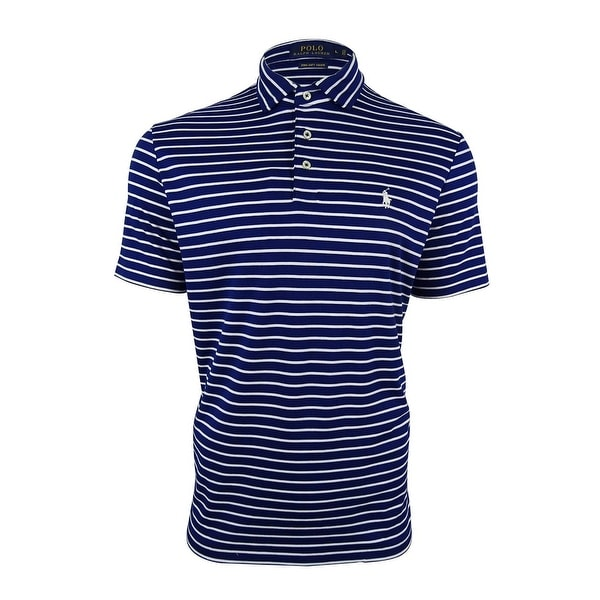 5d455ddd Shop Polo Ralph Lauren Men's Striped Pima Soft-Touch Polo Shirt ...