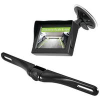 "PYLE PRO PLCM4350WIR Wireless Backup Parking-Assist System with License Plate Camera, 4.3"" Monitor & Wireless Adapters"