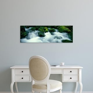 Easy Art Prints Panoramic Images's 'Mountain Stream Kyoto Japan' Premium Canvas Art