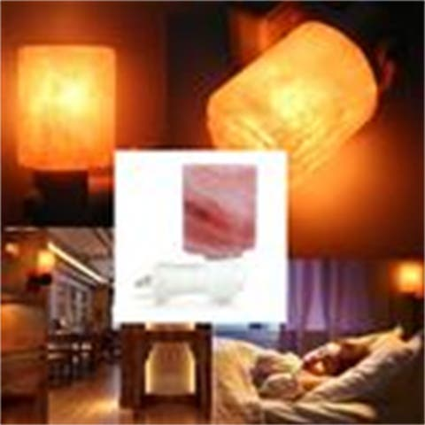 Exquisite Cylinder Natural Rock Salt Himalaya Salt Lamp Air Purifier