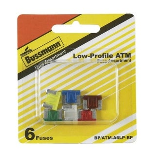 Bussmann BP/ATM-A6LP-RP ATM Low Profile Auto Fuse Assortment
