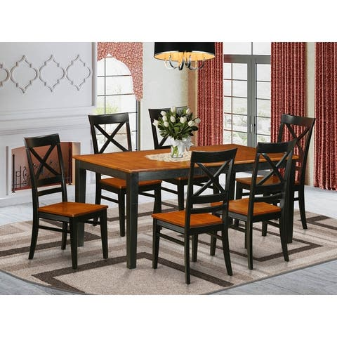 7 PC Dining Table set Includes Dining Table and 6 Dining Chairs - (Finish Pieces Option)