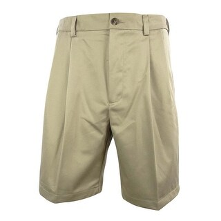 Roundtree & Yorke Men's Big & Tall Flat Front Shorts