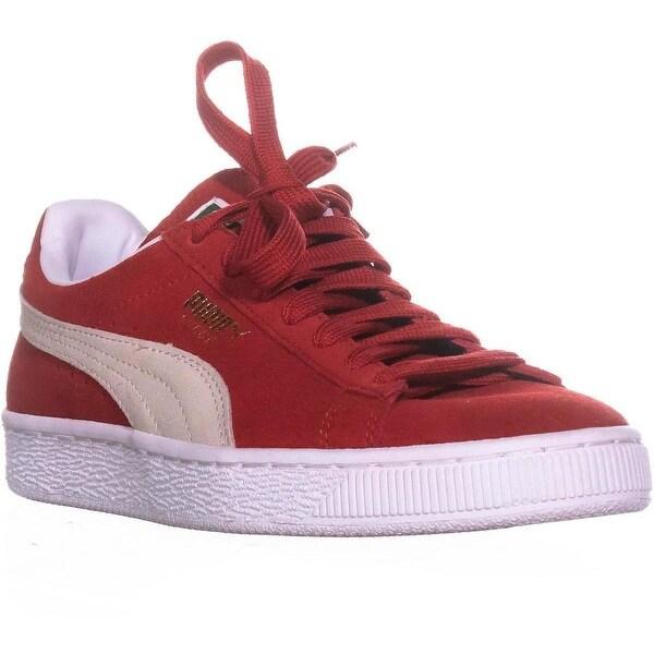 best service 4bd52 076e4 PUMA Suede Classic + Core Sneakers, High Risk Red/White - 7.5 us / 38 eu
