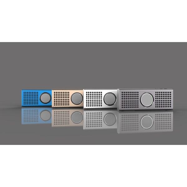 TechComm BT708K Super Slim Bluetooth Speaker with 6W Output Power, Double Vibration Bass Reflex and Powerful Battery