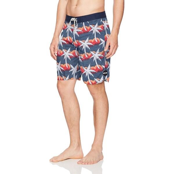 e8998b4526 Shop Rip Curl Blue Mens Size 38 Tropical Print Board Surf Shorts ...