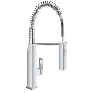 Grohe 31 401 Eurocube Pre Rinse Kitchen Faucet With 2 Function Toggle  Sprayer