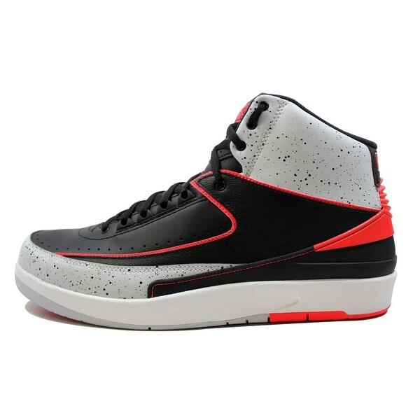 Nike Men's Air Jordan II 2 Retro Black/Infrared 23-Pure Platinum-White Infrared 385475-023 Size 8