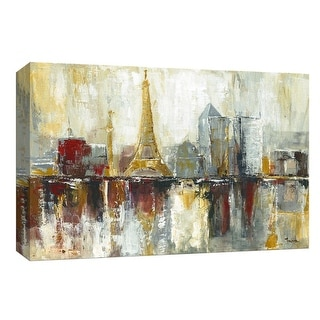 """PTM Images 9-148167  PTM Canvas Collection 8"""" x 10"""" - """"Paris Icons"""" Giclee Eiffel Tower Art Print on Canvas"""