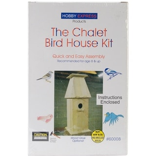 Unfinished Wood Kit-Chalet Bird House